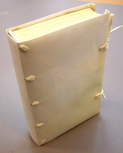 Image6 Limp vellum binding with laced supports